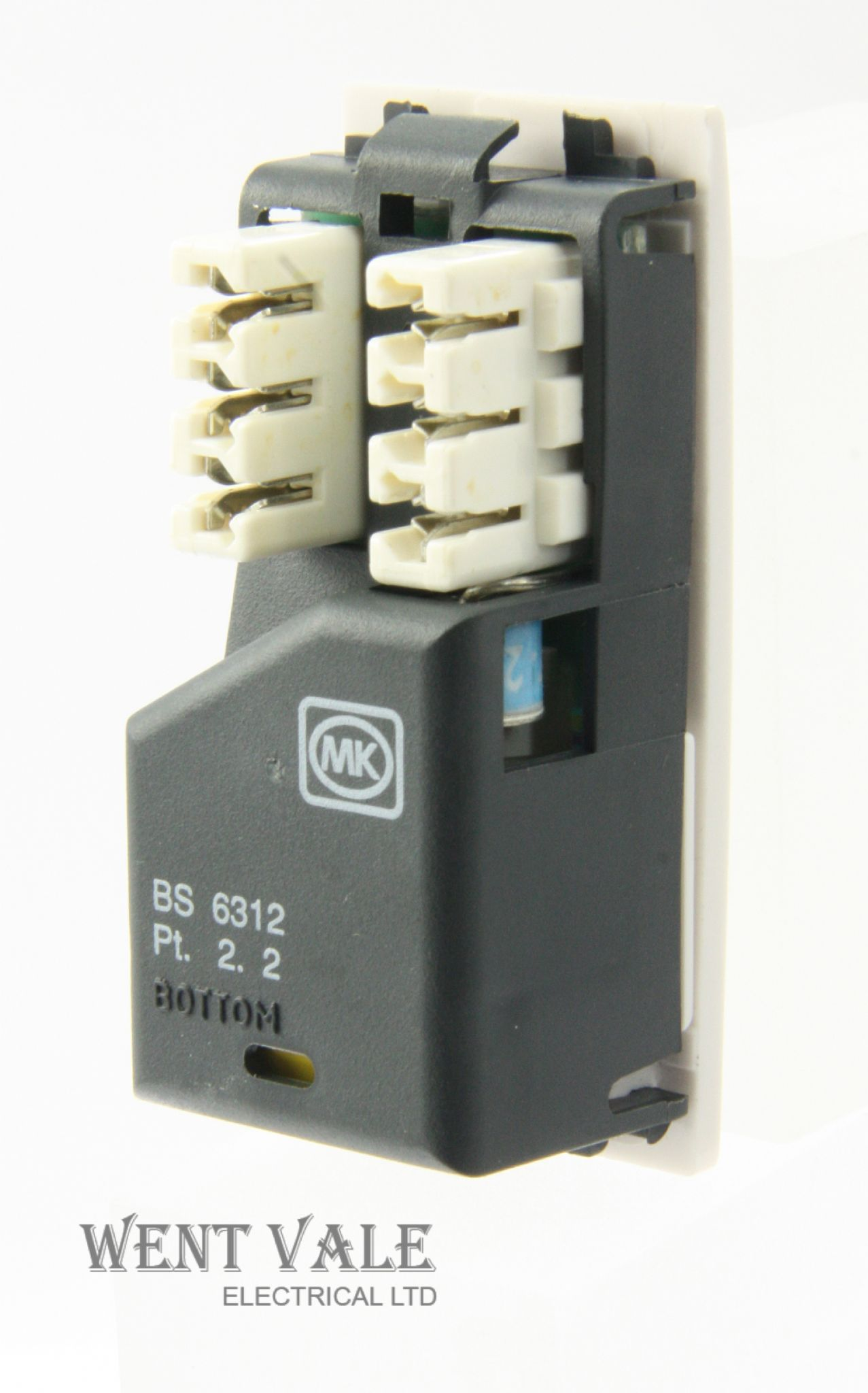 mk logic plus k420 whi master telephone socket module new rh wentvaleelectricalltd co uk MK Cable Management MK Cable Management